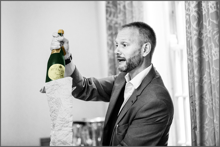 Party Magician at Produces A Bottle of Champagne