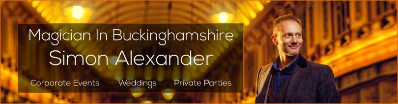 Magician For Hire Buckinghamshire Banner