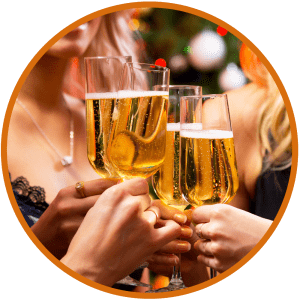 Champagne Glasses at Private Party