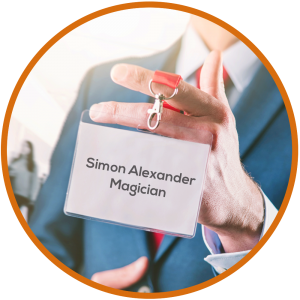 Trade-Show-Magician Name Badge