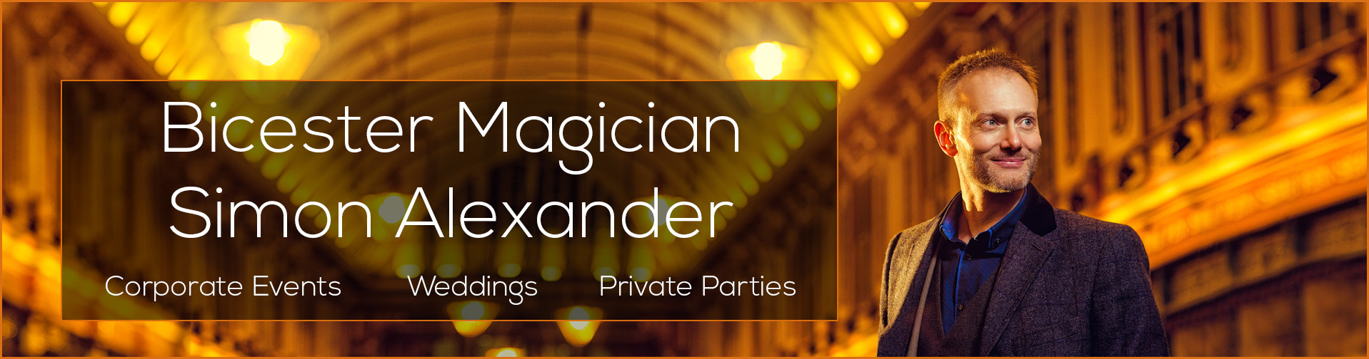 Magician in Bicester banner