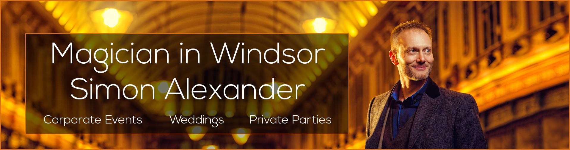 Magician in Windsor Banner