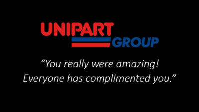 Unipart-Corporate-Magician-Testimonial